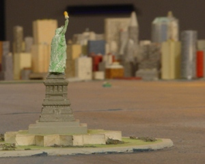 "One Year ""ownership"" of the Statue of Liberty on the Panorama of the City of New York"